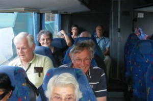 Some happy bus trippers!